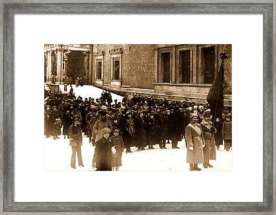 Second Anniversary Of The October Revolution 1919 Framed Print by Litz Collection