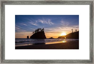 Second Beach Sunstar Almost Framed Print