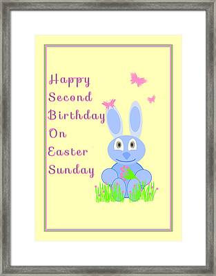 Second Birthday On Easter Framed Print by Rosalie Scanlon