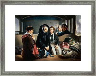 Second Class - The Parting Framed Print by Abraham, Solomon