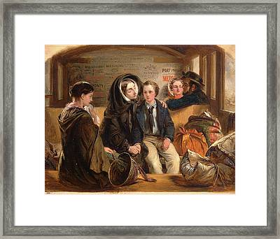Second Class - The Parting. Thus Part We Rich In Sorrow Framed Print by Litz Collection