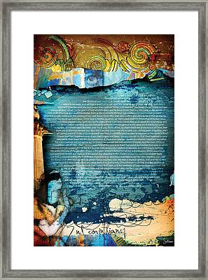 Second Corinthians 1 Framed Print by Switchvues Design