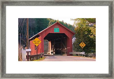 Second Covered Bridge. Framed Print