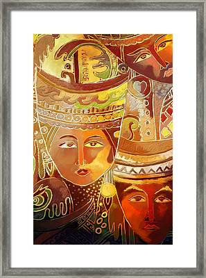 Second Face Framed Print