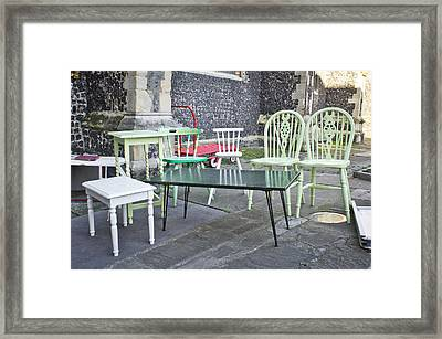 Second Hand Furniture Framed Print by Tom Gowanlock