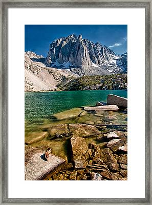 Second Lake And Temple Crag Framed Print by Cat Connor
