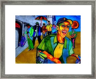 Second Line Celebration Framed Print by Jill Jacobs