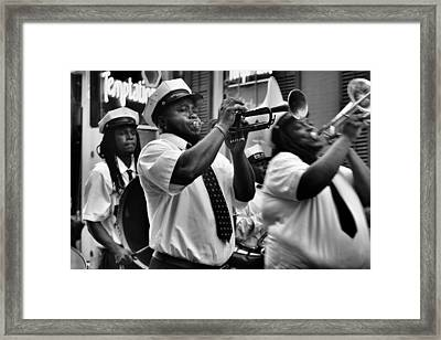 Second Line Framed Print