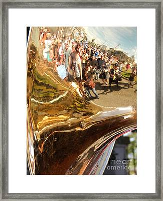 Second Line Tuba Framed Print