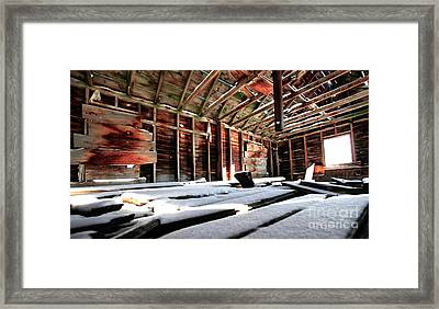 Second Story Homestead Harney Oregon Framed Print by Michele AnneLouise Cohen