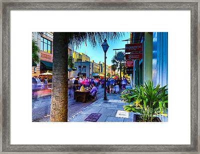 Second Sunday On King St. Charleston Sc Framed Print