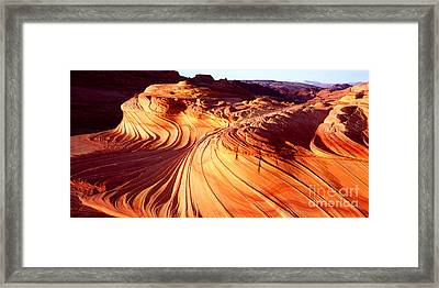 Second Wave In The North Coyote Buttes Framed Print