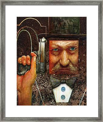 Secret Agent  Framed Print by Frank Robert Dixon