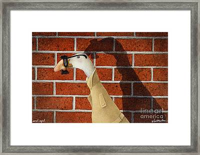 Secret Agent... Framed Print by Will Bullas