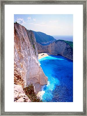 Secret Beach Framed Print by Aiolos Greek Collections