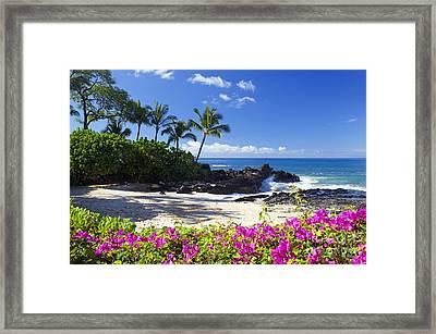 Secret Beach Makena Framed Print
