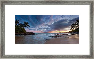 Secret Beach Pano Framed Print by James Roemmling