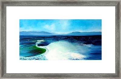 Secret Beach Surf Art Framed Print