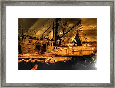 Secret Catch Framed Print by Dennis Baswell
