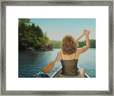 Secret Cove Framed Print by Holly Kallie