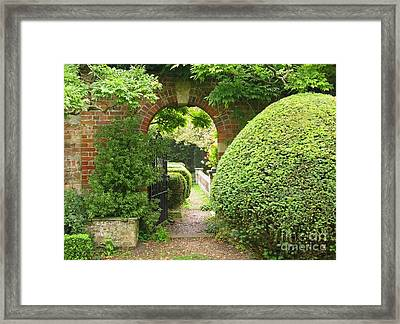 Secret English Garden Framed Print by Ann Horn