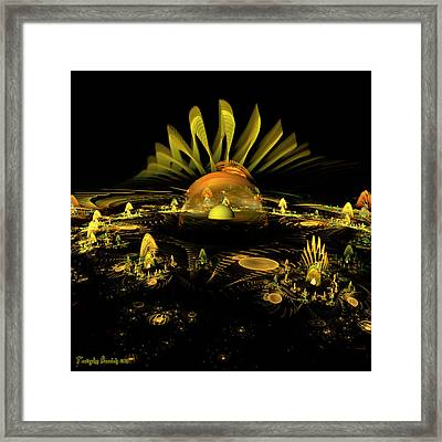 Secret Fairy Monasteries. 2013 80/80 Cm.  Framed Print by Tautvydas Davainis
