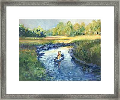 Secret Fishing Hole Framed Print by Alice Grimsley