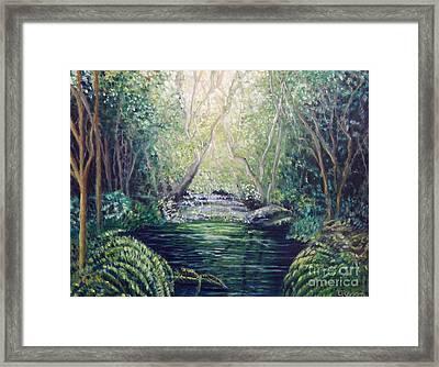 Secret Forest Pool Framed Print by Caroline Street