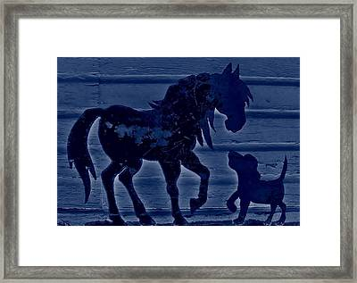 Secret Friends Framed Print by Larry Campbell