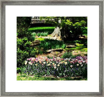 Secret Garden Framed Print by Ally  White