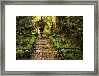 Secret Garden Framed Print by Diana Powell