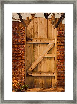 Secret Garden Gate Framed Print