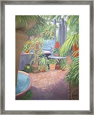 Framed Print featuring the painting Secret Garden by Karen Zuk Rosenblatt