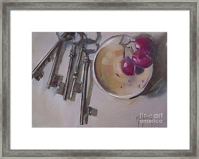 Secret Keys Skeleton Keys Framed Print by Mary Hubley