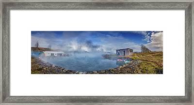 Secret Lagoon- Natural Hot Springs Framed Print
