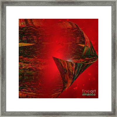 Framed Print featuring the digital art Secret Love - Abstract Art By Giada Rossi by Giada Rossi
