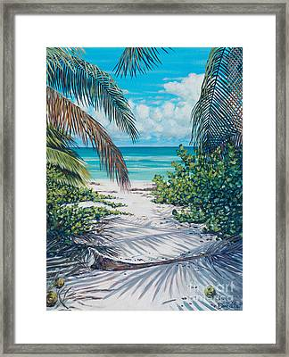 Secret Path Framed Print by Danielle  Perry