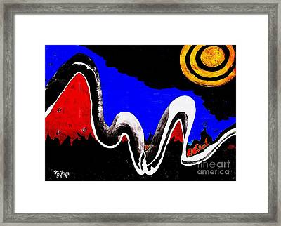 Secret Resort Night By Taikan Framed Print by Taikan Nishimoto