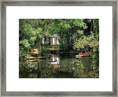 Secret Retreat - River Reflections Framed Print