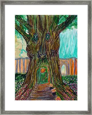 Secret Tree In The Land Of Fairies Fantasy Framed Print