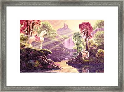 Secret Valley Variant 3 Framed Print