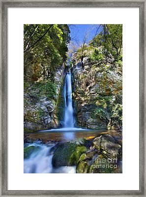 Secret Waterfall Framed Print by Simon Kayne