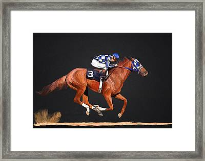 Secretariat And Turcotte Framed Print by GCannon
