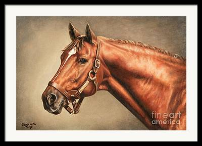 Horse Race Paintings Framed Prints