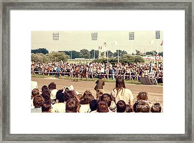 Secretariat Race Horse Coming Down To The Finish Line By Himself To Win The Big Race At Arlington R Framed Print