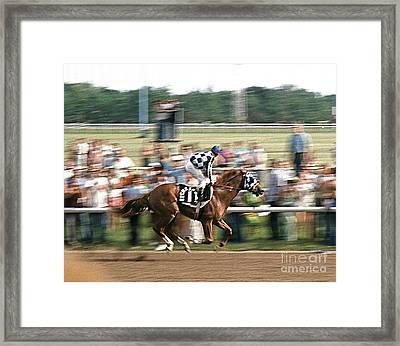 Secretariat Race Horse Winning At Arlington In 1973. Framed Print