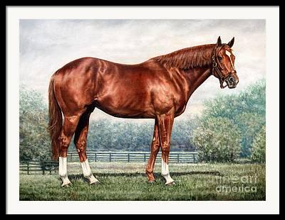 Racing Paintings Framed Prints