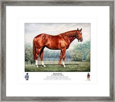 Secretariat Triple Crown Champion Framed Print