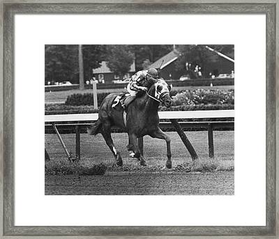 Secretariat Vintage Horse Racing #01 Framed Print by Retro Images Archive