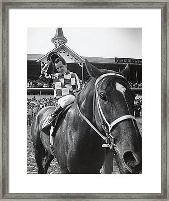 Secretariat Vintage Horse Racing #04 Framed Print by Retro Images Archive
